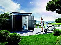 Abri de jardin métal Biohort Highline H4 gris foncé, double porte, 7,56 m² ép.0,53 mm