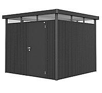 Abri de jardin métal Biohort Highline H4 gris foncé, simple porte, 7,56 m² ép.0,53 mm