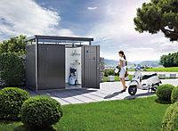 Abri de jardin métal Biohort Highline H5 gris foncé, double porte, 8,66 m² ép.0,53 mm