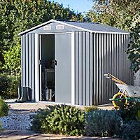 Abri de jardin métal Blooma Basic gris, 4,62 m² ép.0,3 mm