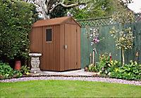 Abri de jardin résine Keter Darwin marron 2,32 m² ép.16mm