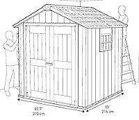 Abri de jardin résine Keter Oakland 757, 5,12 m² ép.20 mm