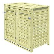 Abri à poubelles bois Blooma Bermejo 0,97 m² ép.16 mm