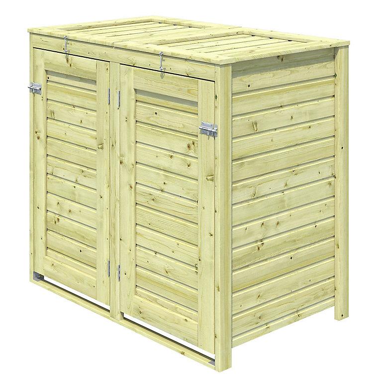 Box Poubelles Bois Double Kasnas 2 0 76 M Ep 14 Mm Castorama