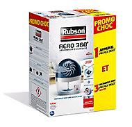 Absorbeur d'humidité Rubson Aero 360° 20 m² + 3 tablettes 2 en 1