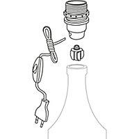Adaptateur bouteille Diall E14 interrupteur + prise blanc