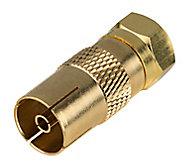 Adaptateur Mâle Type F Femelle ø9.5 mmBlyss, Or