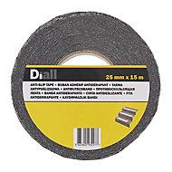 Adhésif antidérapant Diall noir, 15 m x 25mm