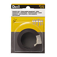 Adhésif antidérapant magnétique double face Diall, 1 m x 20mm