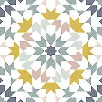 Adhésif azulejos jaune 15x15cm Draeger la Carterie