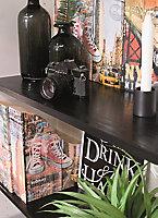 Adhésif décoratif d-c-fix® bois noir 2m x 0.675m