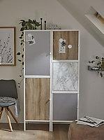 Adhésif décoratif d-c-fix® métal Platino argent 2m x 0.675m