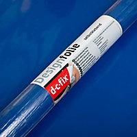 Adhésif décoratif d-c-fix® Uni brillant bleu royal 2m x 0.45m