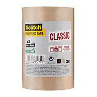 Adhésif d'emballage Scotch 50 mm x 66 m - 3 rouleaux