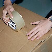 Adhésif d'emballage transparente facile à déchirer, 50mm x 50m