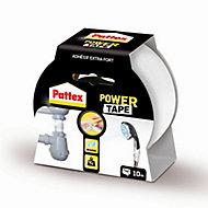 Adhésif de réparation Pattex Power Tape blanc, 10 m