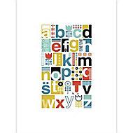 Affiche Abcedaire multicolore 60 x 80 cm