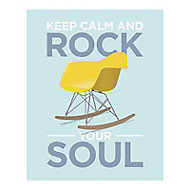 Affiche Keep calm and rock your soul 40 x 50 cm