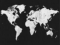 Affiche map noir 60 x 80 cm