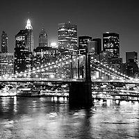 Affiche Pont de Brooklyn 30 x 30 cm