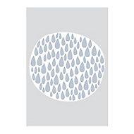 Affiche Ronds gouttes Bleu 40 x 50 cm