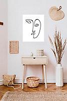 Affiche visage blanc 40 x 50 cm
