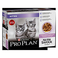 Aliment pour chat junior Pro Plan dinde 10 x 85g