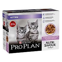 Aliment pour chat junior Pro Plan dinde 10 x 85g