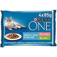 Aliment pour chat stérilisé One saumon dinde 4 x 85g
