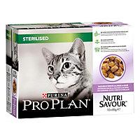 Aliment pour chat stérilisé Pro Plan dinde 10 x 85g