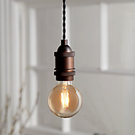 Ampoule à filament globe LED Diall E27 Ø80mm 6W=40W blanc chaud