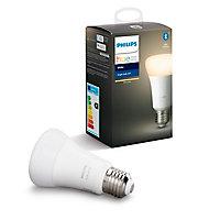 Ampoule LED connectée E27 800lm 9.5W blanc chaud Philips Hue