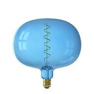 Ampoule LED filament décorative Boden E27 bleu Calex