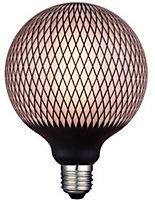 Ampoule Magic net Globe LED décor noir ø 20 E27 5W 360LM 2700°K