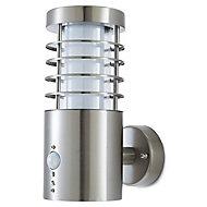 Applique extérieure à détection LED Blooma Hampstead chrome IP44
