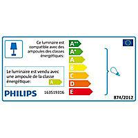 Applique extérieure E27 15W 970 lm Philips Bridge gris anthracite