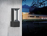 Applique LED intégrée Riforano noir IP44 1100lm