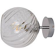 Applique murale Eclaze ampoules E27 IP20 argent
