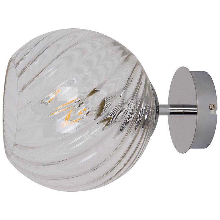 applique murale eclaze ampoules e27 ip20 argent  castorama