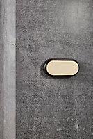 Applique murale extérieure LED intégrée Cuba Bright ovale 1600 lm 14W blanc neutre Nordlux noir