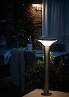 Applique murale LED intégrée Carson 700lm IP44 8.5W Blanc neutre 20x16cm Blooma Chrome