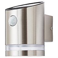 Applique murale LED intégrée à détection 80lm IP44 1.1W Blanc froid 12,7x8,9cm Blooma Chrome