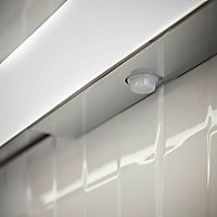 Applique murale Yucata LED intégrée Ø4cm IP44 600lm 6.5W GoodHome Blanc neutre gris