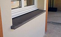 Appui de fenêtre en terre cuite 34,5 x 108 cm anthracite