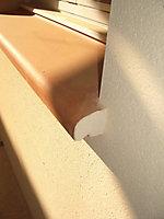 Appui de fenêtre en terre cuite 34,5 x 108 cm orange