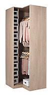 Armoire d'angle Darwin L 75 cm x P 56 cm x H 235 cm coloris chêne