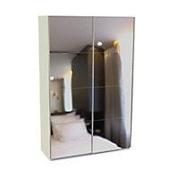 Armoire Darwin 3 tiroirs avec portes coulissantes L 150 cm x P 56 cm x H 235 cm coloris blanc