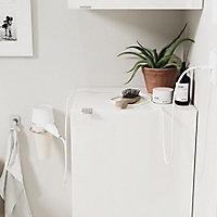 Armoire de salle de bains GoodHome Imandra blanc L.40 x H.90 x P.36 cm