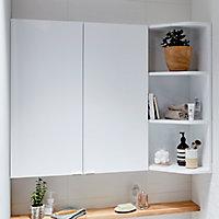Armoire de salle de bains GoodHome Imandra blanc L.60 x H.90 x P.15 cm