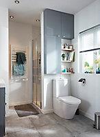 Armoire de salle de bains GoodHome Imandra gris L.80 x H.60 x P.15 cm
